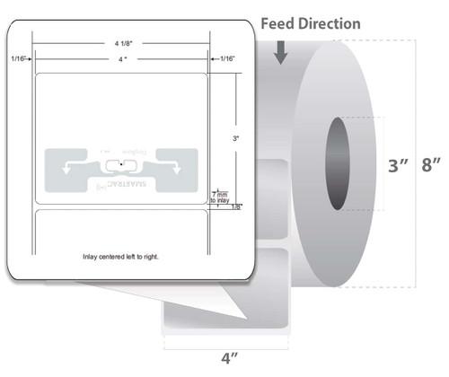 "Zebra 4"" x 3"" Z-Perform 1500T RFID Label (Case) - 10026460"