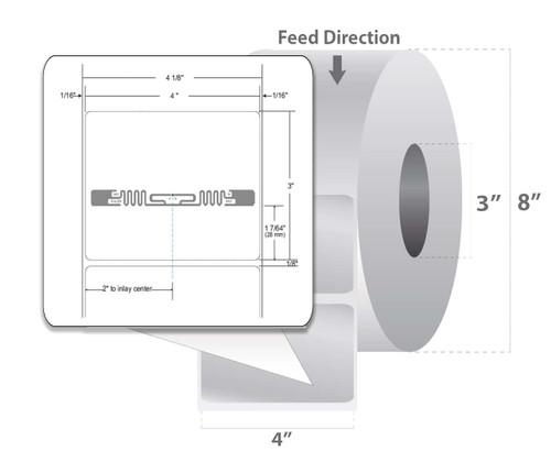 "Zebra 4"" x 3"" Z-Perform 1500T RFID Label (Case) - 10026626"
