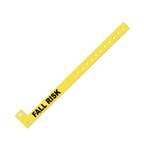 "Zebra 0.625"" x 10"" Slim Alert Fall Risk Wristband (Yellow) (Case) - PS-FALLRISK-YEL"