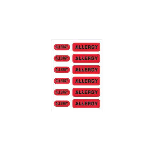 """Zebra 2.5"""" x 3.5"""" Spot Alert Allergy Label (Red) (Case) - LB-ALERT-ALLERGY"""