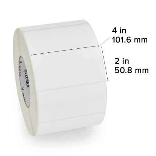 "Zebra 4"" x 2"" Z-Perform 1500T RFID Label (Case) - 10026625"