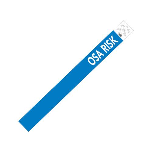 """Zebra 1"""" x 10"""" Tyvek Alert OSA Risk Wristband (Blue) (Case) - TY-OSARISK"""