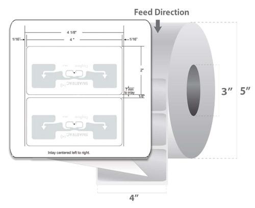 "Zebra 4"" x 2"" Z-Perform 1500T RFID Label (Case) - 10026464"