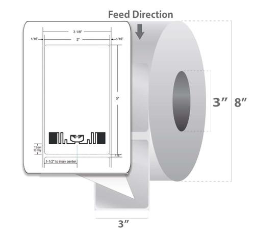 "Zebra 3"" x 5"" Z-Perform 1500T RFID Label (Case) - 10026446"