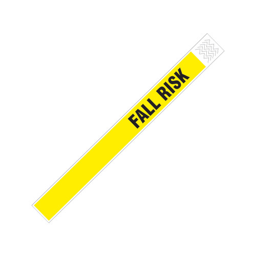 "Zebra 1"" x 10"" Tyvek Alert Fall Risk Wristband (Yellow) (Case) - TY-FALLRISK"
