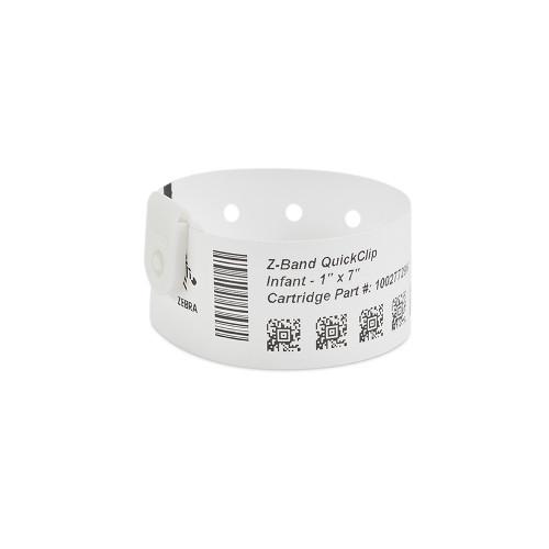 """Zebra 1"""" x 7"""" Z-Band QuickClip Wristband (Case) - 10027729K"""