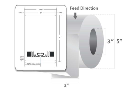 "Zebra 3"" x 5"" Z-Perform 1500T RFID Label (Case) - 10026453"