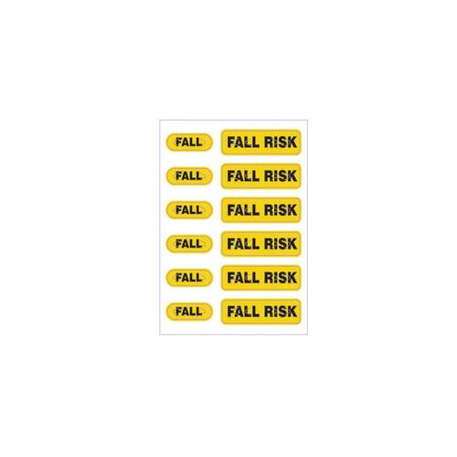 "Zebra 2.5"" x 3.5"" Spot Alert Fall Risk Label (Yellow) (Case) - LB-ALERT-FALLRISK"