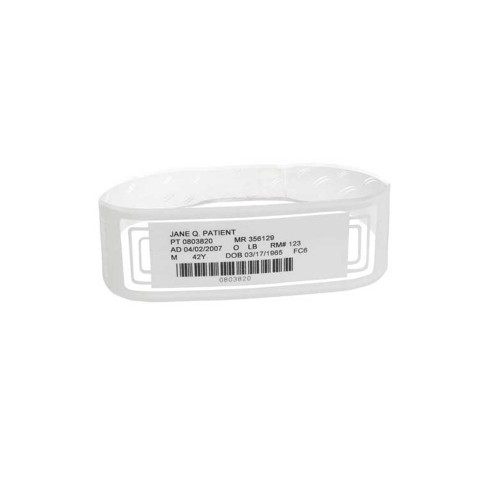 """Zebra 3.25"""" x 1"""" OmniBand Wristband (Red) (Case) - LB2-ADULT-WL3-RED"""