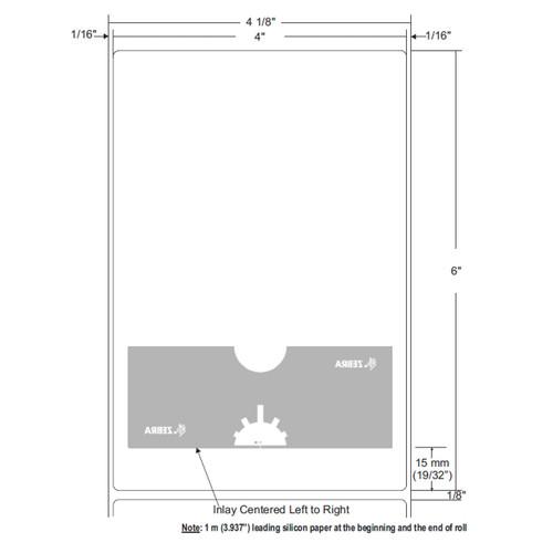 "Zebra 4"" x 6"" Z-Perform 1500T RFID Label (Case) - 10026646"