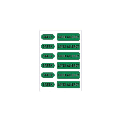 "Zebra 2.5"" x 3.5"" Spot Alert Latex Allergy Label (Green) (Case) - LB-ALERT-LATEXALLERGY"