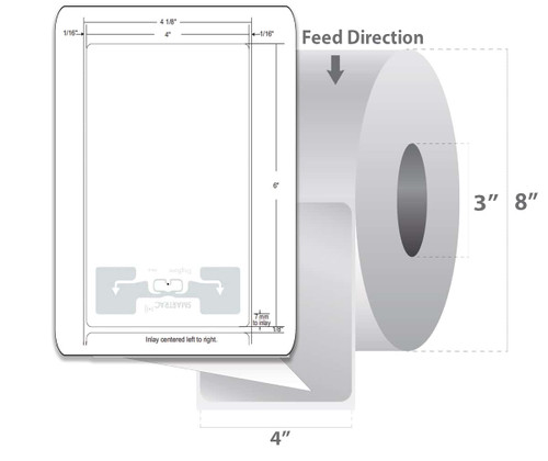 "Zebra 4"" x 6"" Z-Perform 1500T RFID Label (Case) - 10026459"