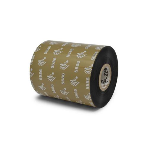 """Zebra 3.27"""" x 1,476' 5586 Wax/Resin Ribbon (Case) - 05586BK08345"""