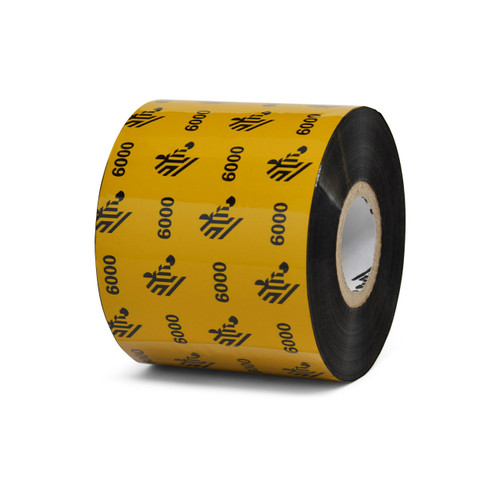 "Zebra 2.36"" x 1,476' 6000 Wax Ribbon (Case) - 06000BK06045"