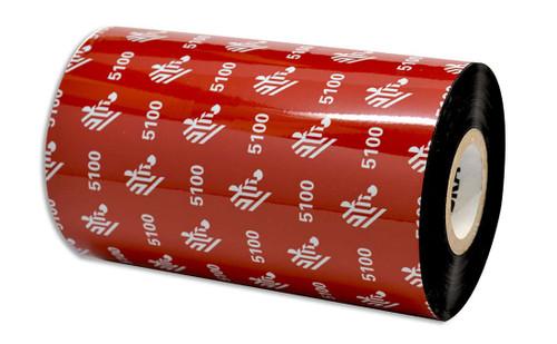 """Zebra 5.16"""" x 1,476' 5100 Resin Ribbon (Case) - 05100BK13145"""