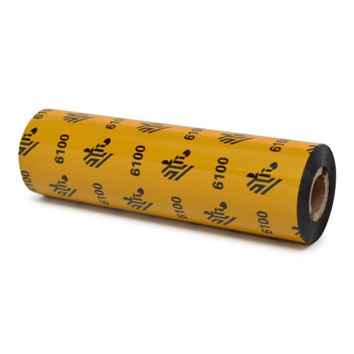 "Zebra 4.33"" x 243' 6100 Wax/Resin Ribbon (Case) - 06100GS11007"