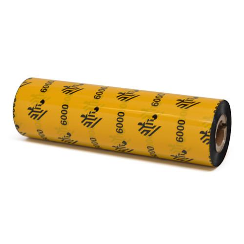 "Zebra 4.33"" x 243' 6000 Wax Ribbon (Case) - 06000GS11007"