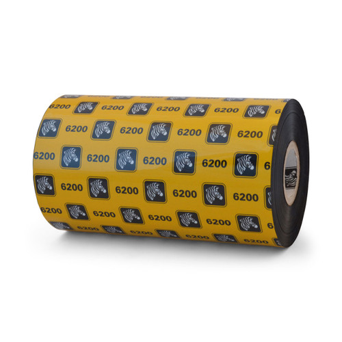 """Zebra 5.16"""" x 1,476' 6200 Resin Ribbon (Case) - 06200BK13145"""