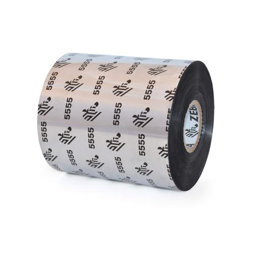 """Zebra 3.27"""" x 1,476' 5555 Wax/Resin Ribbon (Case) - 05555BK08345"""