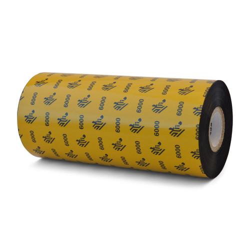 "Zebra 6.16"" x 1,476' 6000 Wax Ribbon (Case) - 06000BK15645"