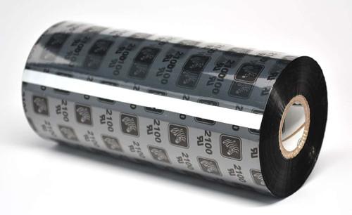 "Zebra 8.66"" x 1,476' 2100 Wax Ribbon (Case) - 02100BK22045"
