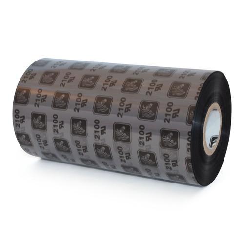 "Zebra 5.16"" x 2,955' 2100 Wax Ribbon (Case) - 02100BK13190"