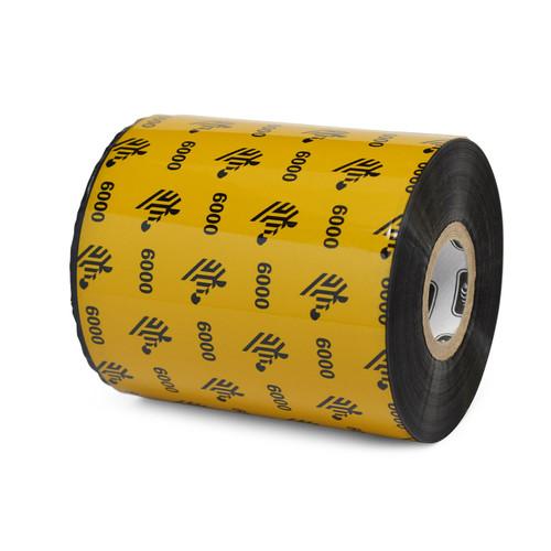 "Zebra 3.27"" x 1,476' 6000 Wax Ribbon (Case) - 06000BK08345"