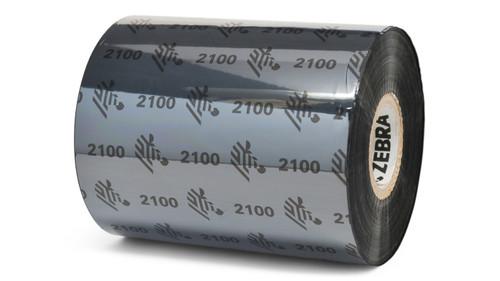 "Zebra 3.15"" x 1,476' 2100 Wax Ribbon (Case) - 02100BK08045"