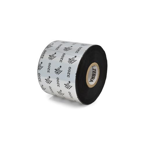 """Zebra 2.36"""" x 1,476' 3200 Wax/Resin Ribbon (Case) - 03200BK06045"""