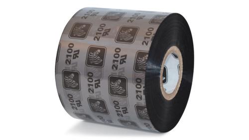 "Zebra 2.36"" x 1,476' 2100 Wax Ribbon (Case) - 02100BK06045"