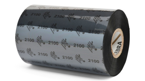 "Zebra 4.02"" x 1,476' 2100 Wax Ribbon (Case) - 02100BK10245"
