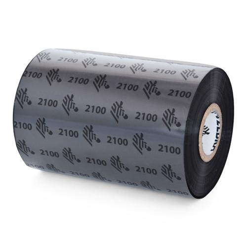 "Zebra 4.33"" x 1,476' 2100 Wax Ribbon (Case) - 02100BK11045"