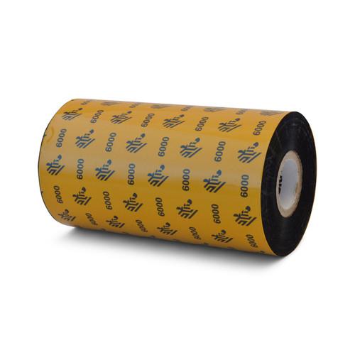 "Zebra 5.16"" x 1,476' 6000 Wax Ribbon (Case) - 06000BK13145"