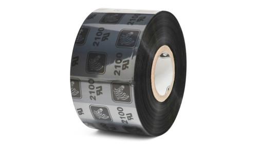 "Zebra 1.57"" x 1,476' 2100 Wax Ribbon (Case) - 02100BK04045"