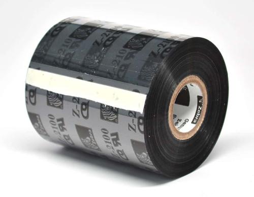 "Zebra 4.33"" x 2,955' 2100 Wax Ribbon (Case) - 02100BK11090"
