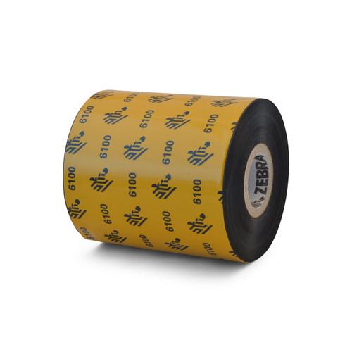 """Zebra 3.15"""" x 1,476' 6100 Wax/Resin Ribbon (Case) - 06100BK08045"""
