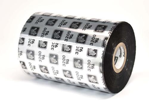 """Zebra 6.85"""" x 1,476' 3200 Wax/Resin Ribbon (Case) - 03200BK17445"""