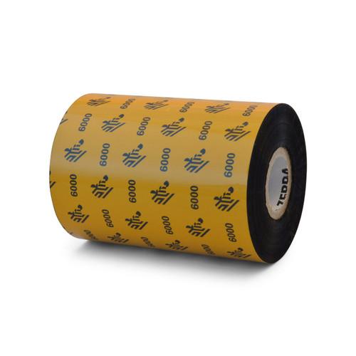 "Zebra 4.02"" x 1,476' 6000 Wax Ribbon (Case) - 06000BK10245"