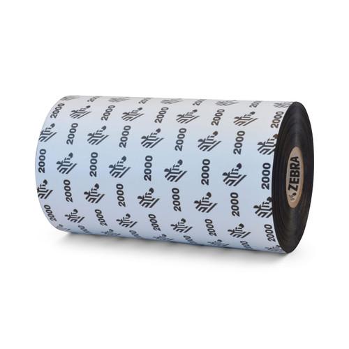 "Zebra 5.16"" x 1,476' 2000 Wax Ribbon (Case) - 02000BK13145"
