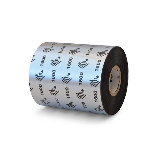 "Zebra 3.27"" x 1,476' 1600 Wax Ribbon (Case) - 01600BK08345"