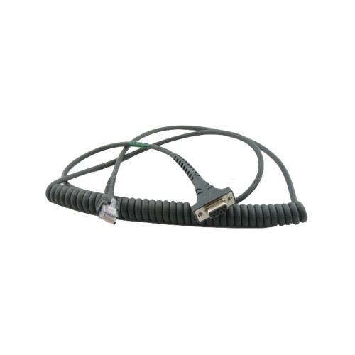 Zebra Barcode Scanner RS232 Cable (9' Coiled) - CBA-R37-C09ZBR