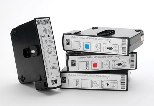 "Zebra 1"" x 7"" Z-Band QuickClip Wristband (Cartridge) - 10007003K-EA"