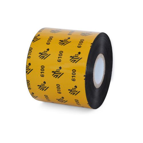"""Zebra 2.36"""" x 1,476' 6100 Wax/Resin Ribbon (Case) - 06100BK06045"""