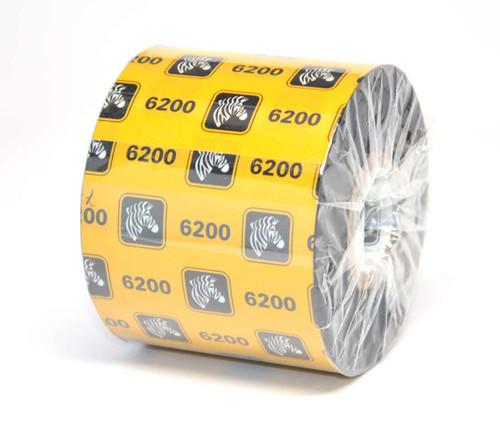"""Zebra 2.36"""" x 1,476' 6200 Resin Ribbon (Case) - 06200BK06045"""