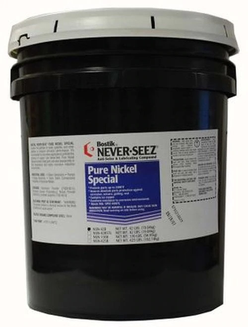 Bostik Never-Seez NSN-42B Pure Nickel Special Anti-Seize 42 LB. Pail