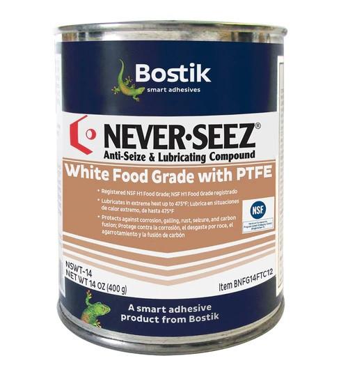 Bostik Never-Seez NSWT-14 White Food Grade Anti-Seize 14 oz. Flat Top Can