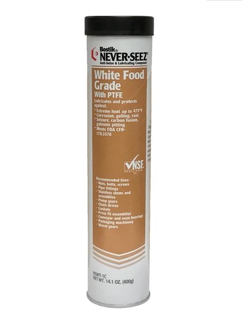 Bostik Never-Seez NSWT-1C White Food Grade Anti-Seize 14 oz. Cartridge