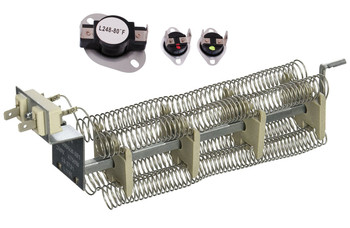 DEJ208W Norge Dryer Heating Element Thermostat Thermal Fuse Kit