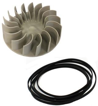 LEQ9957KT0 Whirlpool Dryer Blower Wheel And Belt Kit