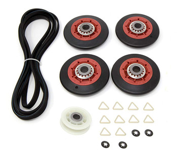7EWED5550YW1 Whirlpool Dryer Belt Pulley Roller Kit